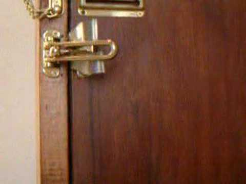 Hotel Door Latch...not safe & Hotel Door Latch...not safe - YouTube