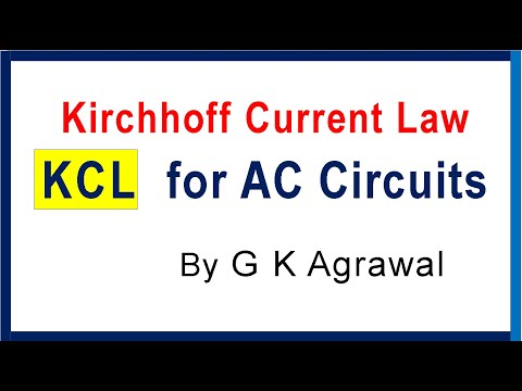 Kirchhoff's current law KCL & KVL for AC circuits