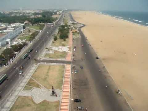 Chennai Marina Beach Longest one -India