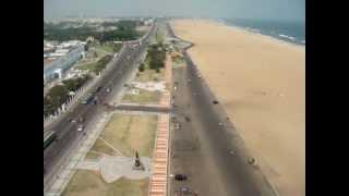 Chennai Marina Beach Longest one -India