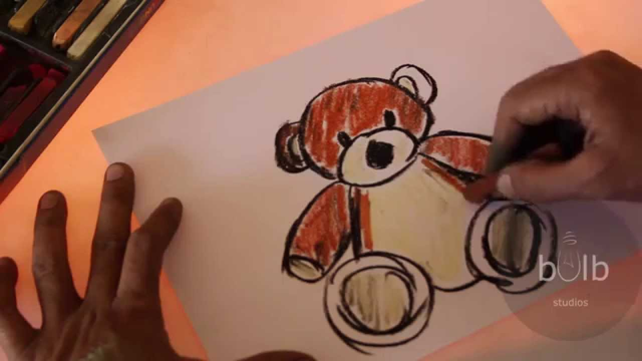 Scribble Drawing For Kids : How to draw teddy bear scribble for kids youtube
