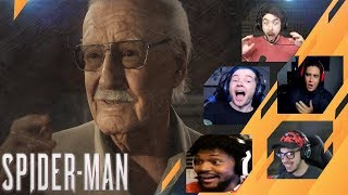 Gamers Reactions to STAN LEE CAMEO | Marvel's Spider-Man