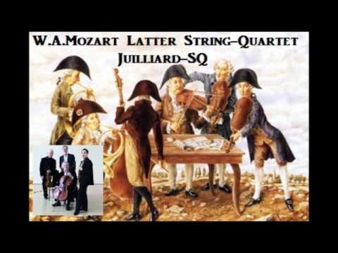 W.A.Mozart Latter String-Quartet Selection [ Juilliard-SQ ] (1962)