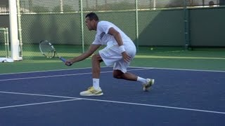 Jo-Wilfried Tsonga Forehand, Backhand and Serve In Super Slow Motion - Indian Wells 2013 - BNP