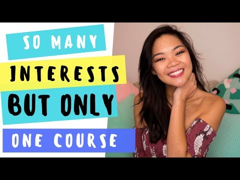 Choosing a university/college course when you have too many interests | Career talk #6