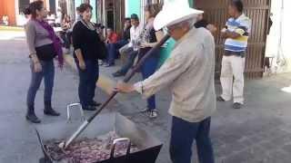 Chicharrones de res—fried beef—in Cosalá Sinaloa