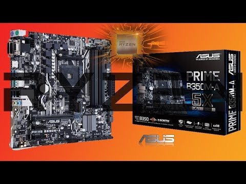 Asus AMD PRIME B350M-A AM4 Socket Unboxing
