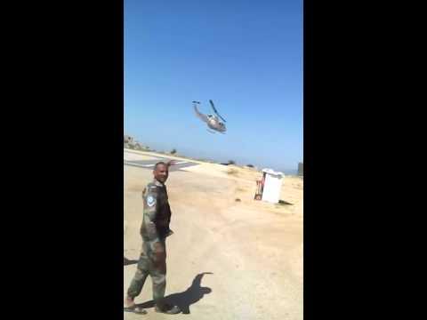Omprakash with helicopter