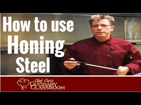 How to Use A Honing Steel with Chef Eric's Culinary Classroom | Best Cooking Schools in America