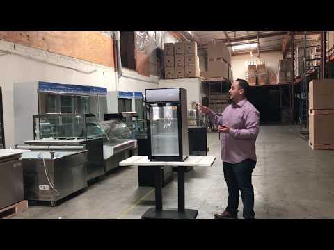 Countertop Desktop Refrigerated Display GLASS MERCHANDISER COOLER
