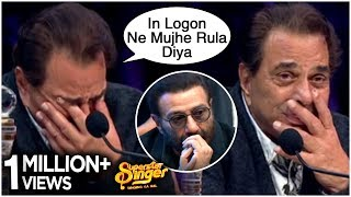 Dharmendra CRYING On The Sets Of Superstar Singer With Sunny Deol, Karan Deol
