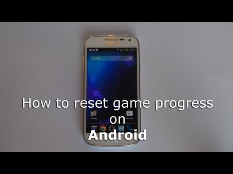 How To Reset Game Progress On Android Youtube