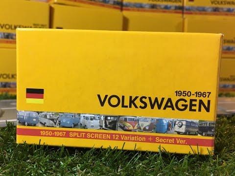 Modellauto 12 verschiedene Volkswagen VW Typ 2 T1 1950-1967 (03888 de)