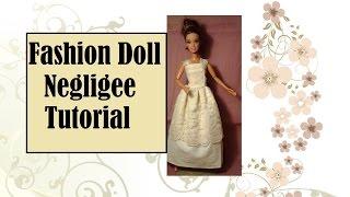 Sew a Nightgown for Fashion Dolls Like Barbie, Pullip, Blythe, Momoko