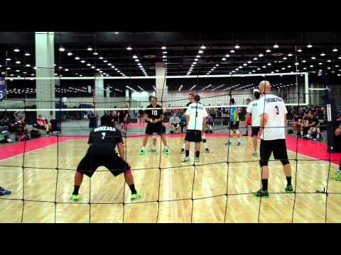 USAV Adult Nationals Mens AA Pool Play ( Team Youth Vs Shinkara Set 1 )