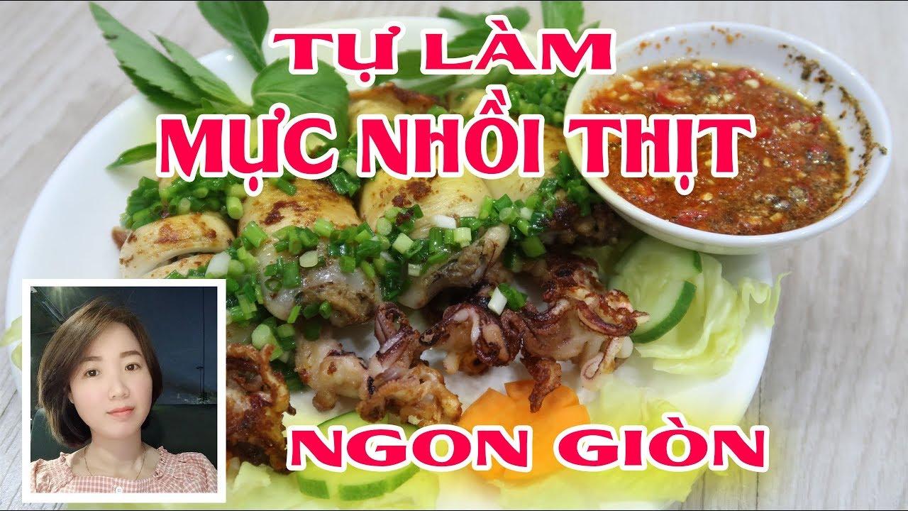 Vlog 14 - Mực nhồi thịt siêu giòn siêu ngon, Stuffed with meat ink - Cooking with Jang