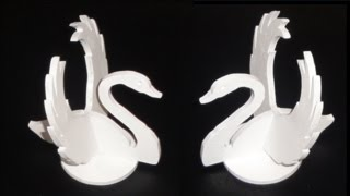 Scroll Saw Projects - 3d Swans