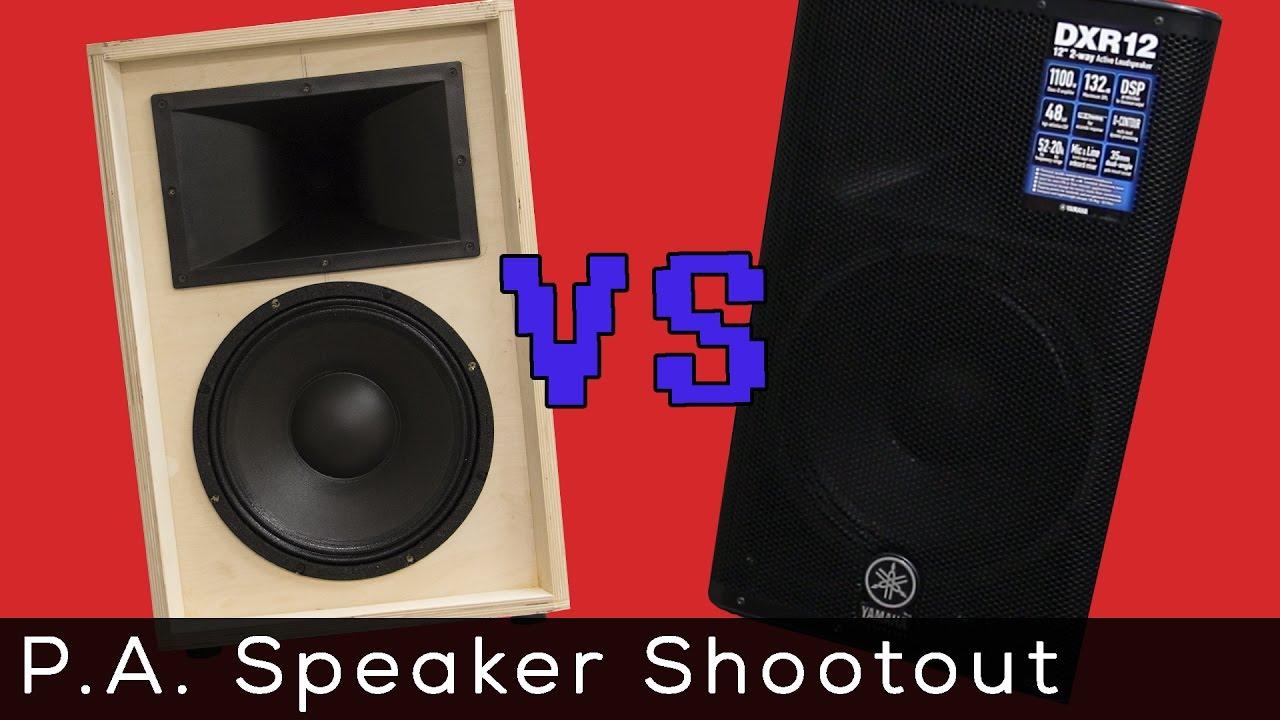 12 P A Shootout Diy Speakers Vs Premade Comparison Youtube