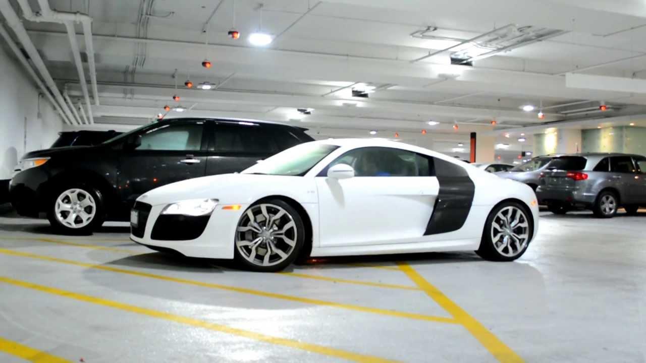 Car spotting: Audi R8 V10 - White - YouTube