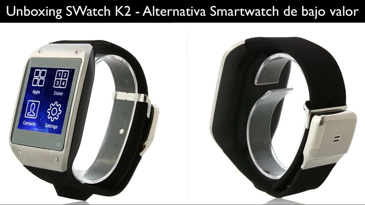 Bajo Gear Galaxy Clone Unboxing De Valor Swatch Smartwatch K2 RLj354A