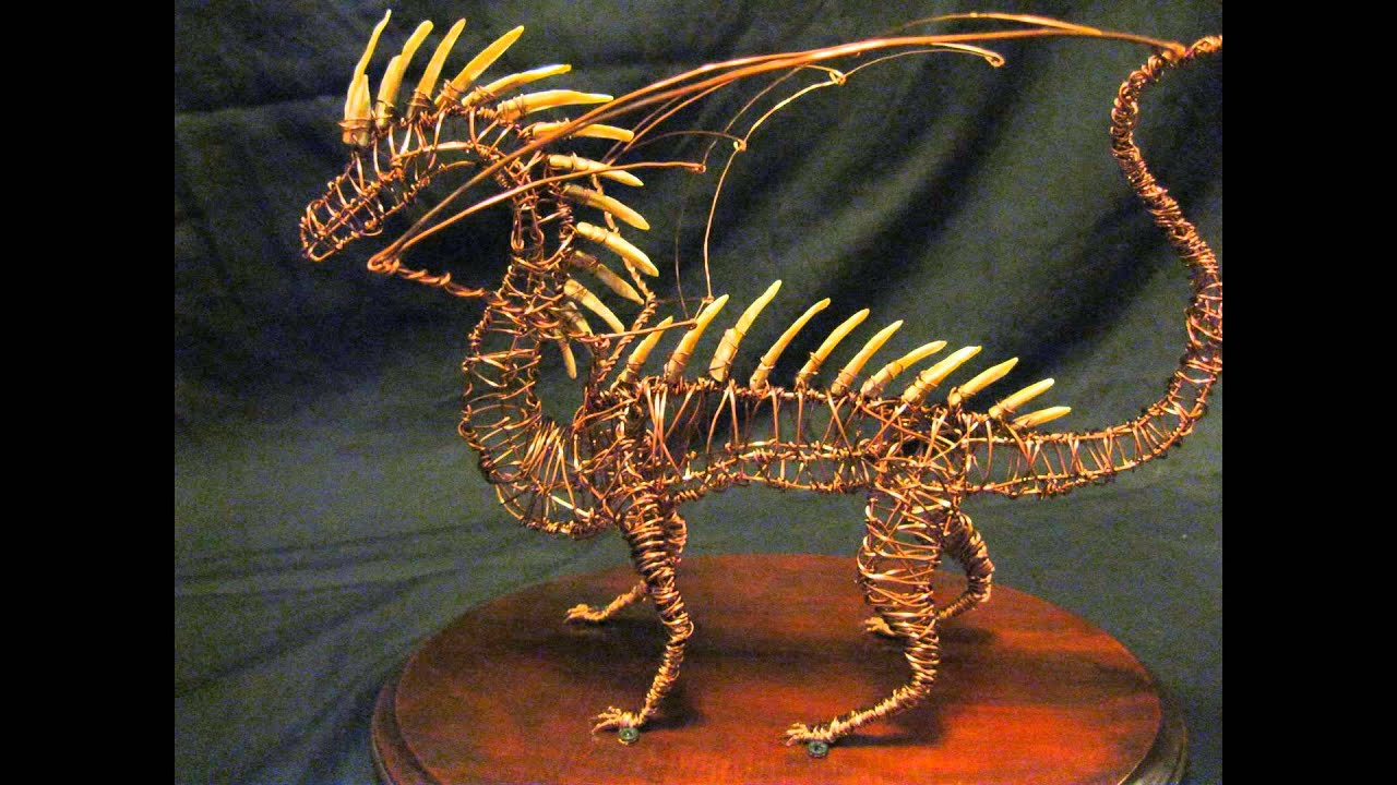 Spiny Dragon Wire Sculpture - YouTube