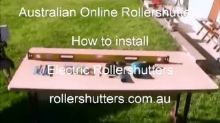 Electric Powered Roller Shutter Installation Rollershutters.com.au