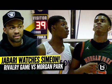 Jabari Parker Watches Simeon Rivalry Game vs Chicago's Hottest Team! Morgan Park Wins 17th Straight!