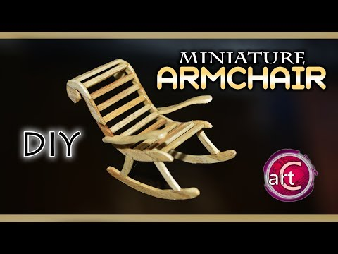 MINIATURE : Wooden Armchair | DIY PopSicle stick project | Art with Creativity 270