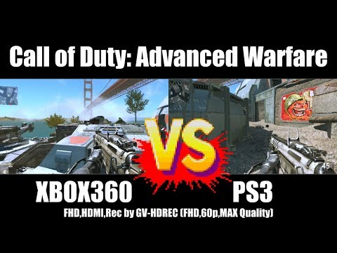 [4K比較] XBOX360 vs PS3 - Call of Duty: Advanced Warfare [GV-HDREC]