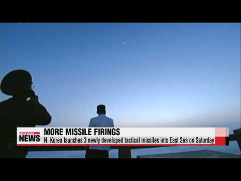 North Korea fires short-range missiles into East Sea   북한 추석 앞두고 신형미사일 발사