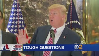 President Trump Turns Combative At Tuesday Press Conference