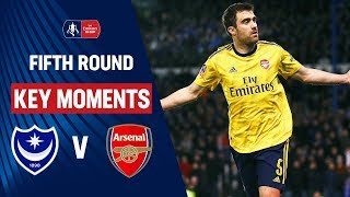Portsmouth vs Arsenal | Key Moments | Fifth Round | Emirates FA Cup 19/20