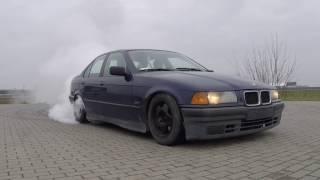 BMW E36 325i Burnout Donut Drift