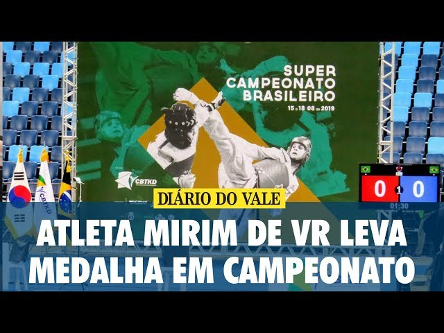 Atleta mirim de VR leva medalha em Campeonato de Taekwondo