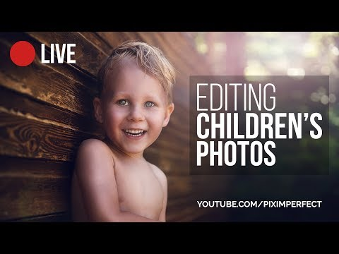 Retouching Children's Photos Complete Workflow in Photoshop | 🔴 LIVE Replay