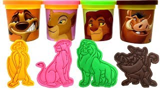 The Lion King Play-Doh Surprise Toys Simba Nala Timon Pumbaa Kion Ushari The Lion Guard Learn Colors