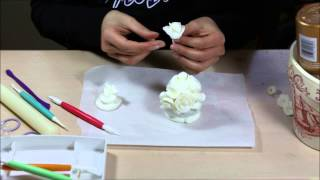 Crafty Time-lapses - Cold Porcelain Flower Composition Assembly