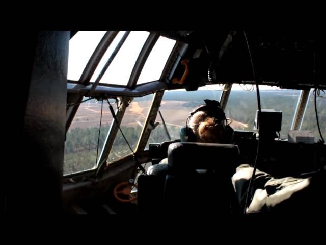 C-130 ASSUALT LANDING ON DIRT AIRSTRIP Part I in 720p HD