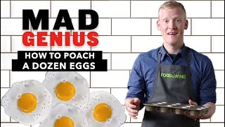 how to poach a dozen eggs   mad genius tips   food wine