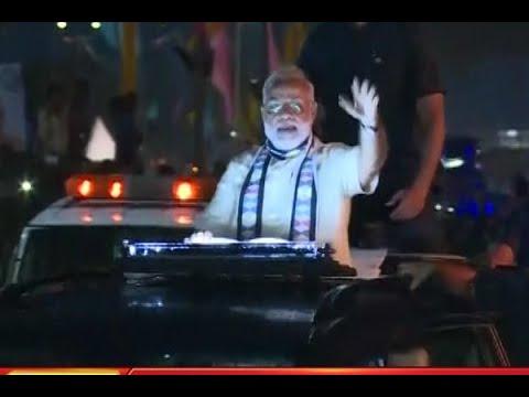 FULL ROAD SHOW: PM Modi holds a road show in Gujarat's Rajkot