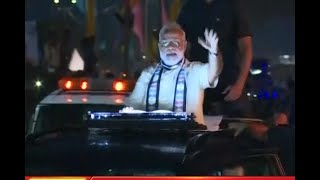 FULL ROAD SHOW: PM Modi holds a road show in Gujarat's Rajkot