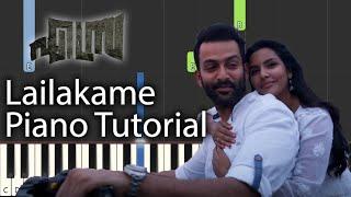 Lailakame Piano Tutorial Notes & MIDI | Ezra | Malayalam Song