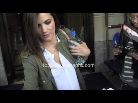 Julie Gonzalo  Signing Autographs at her hotel in NYC