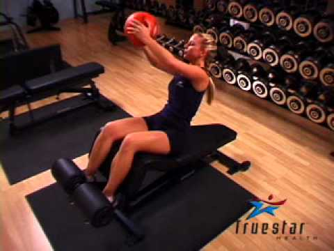 Decline Oblique Twist (medicine ball) Young Adult Female