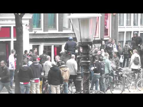ajax champions league manchester city riots break out and the police come into action