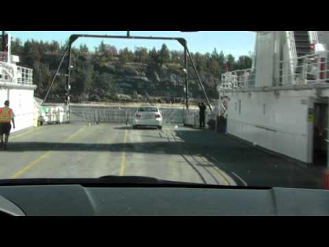 Driving on  Thetis Island Ferry