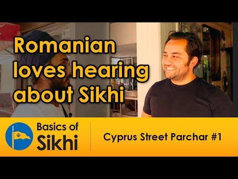 Romanian loves hearing about Sikhi - Cyprus Street Parchar #1