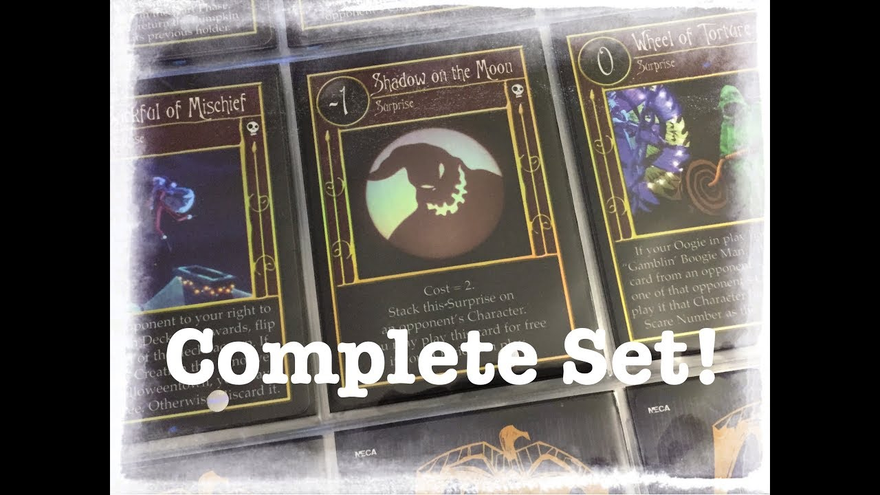 Complete Set! - The Nightmare Before Christmas TCG - YouTube