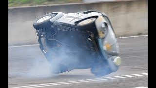 VW BEETLE CRASH at Santa Pod Raceway