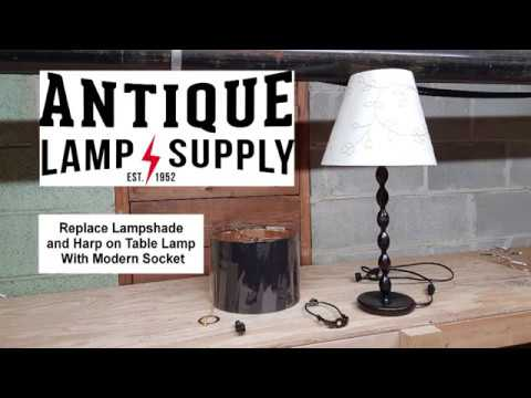 Lampshade And Harp On Table Lamp